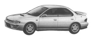 Subaru Impreza 4 door HardTop Sedan 2.0L 4WD WRX 1995 г.