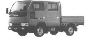 Nissan Atlas 4WD 0.75T DOUBLE CAB, SUPER LOW DX 1995 г.