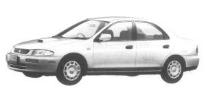 Mazda Familia Sedan 4WD Diesel LS 1995 г.