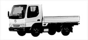 Mazda Titan 2 TON 4.0 LITER HIGH FLOOR NARROW CABIN 2002 г.