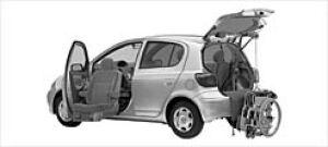Toyota Vitz Welcab Pass. Seat Lift-up Car, B type 2002 г.
