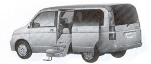 Honda Step Wagon ALMAS,Side Lift-up seat version D type 2002 г.