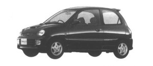Mitsubishi Minica 3 doors DANGAN-4 (5M/T) 1994 г.