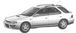 Subaru Impreza SPORT WAGON 4WD 2.0L WRX 1994 г.