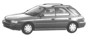 Subaru Impreza SPORT WAGON 1.6L CS-X 1994 г.
