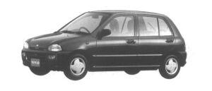 Subaru Vivio 5 DOORS SEDAN em 1994 г.