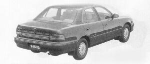 Toyota Vista SEDAN 2000 ETOVALE FULL TIME 4WD 1991 г.