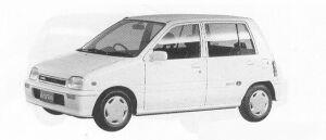 Daihatsu Mira 5DOOR J-TYPE P 1991 г.