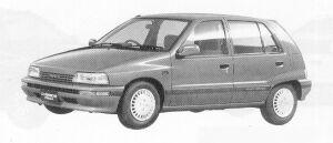 Daihatsu Charade KISSA DIESEL TURBO 1.0 5DOOR 1991 г.
