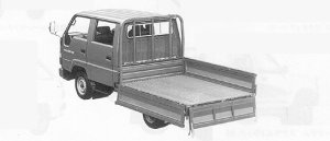 Toyota Toyoace DOUBLE CAB J/L STEEL LONG DECK 1.25T D. 1991 г.