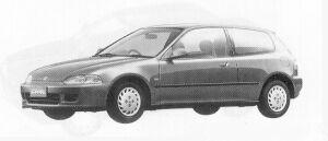 Honda Civic 3DOOR ETI 1991 г.