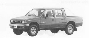 Isuzu Rodeo 4WD SUPER DOUBLE CAB 1991 г.