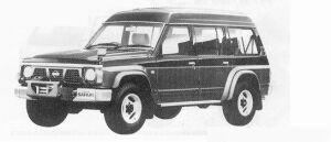 Nissan Safari WAGON EXTRA HIGH ROOF  KINGS ROAD 4200G 1991 г.