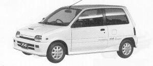 Daihatsu Mira TURBO X4 1991 г.