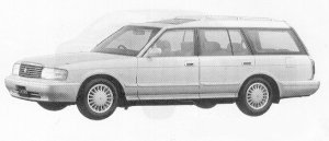 Toyota Crown STATION WAGON  ROYAL SALOON 1991 г.