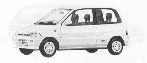 Mitsubishi Minica 3DOOR SEDAN MG 1991 г.