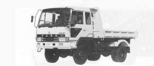 Mitsubishi Fighter 4WD 3.25T DUMP 1991 г.