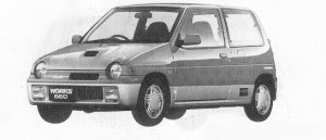 Suzuki Alto Works TWIN CAM TURBO RS/R  FULL TIME 4WD 1991 г.