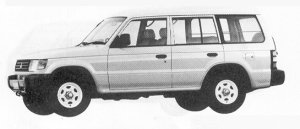 Mitsubishi Pajero KICK-UP ROOF XE VAN 1991 г.