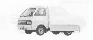Mazda Eunos Truck CARGO 2WD WIDE&LOW 850KG DIESEL 2000 1991 г.