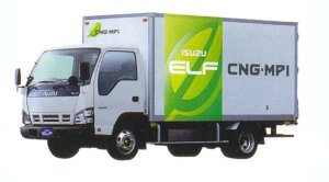 Isuzu Elf CNG-MPI Smoother-E  Wide Cab  Flat Long Body 2005 г.