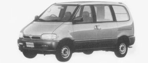 Nissan Serena 4WD RV SELECT DIESEL TURBO 2000 1996 г.