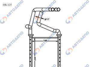 Радиатор отопителя салона TOYOTA