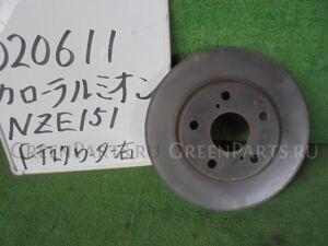 Тормозной диск на Toyota Corolla Rumion NZE151N 1NZ-FE