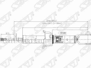 Амортизатор на Honda Civic GF-MB4, GF-MB3, E-MB4, E-MB3, E-EK8, GF-EK3, GF-EK VM, VA, PK6V, PK5V, PH16A, PH15A, P6ZD1, P6FD6, P6
