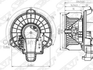 Мотор печки на Toyota Prius NZE181, NZE184, ZRE186, NZE151, NZE154, ADE150, ND